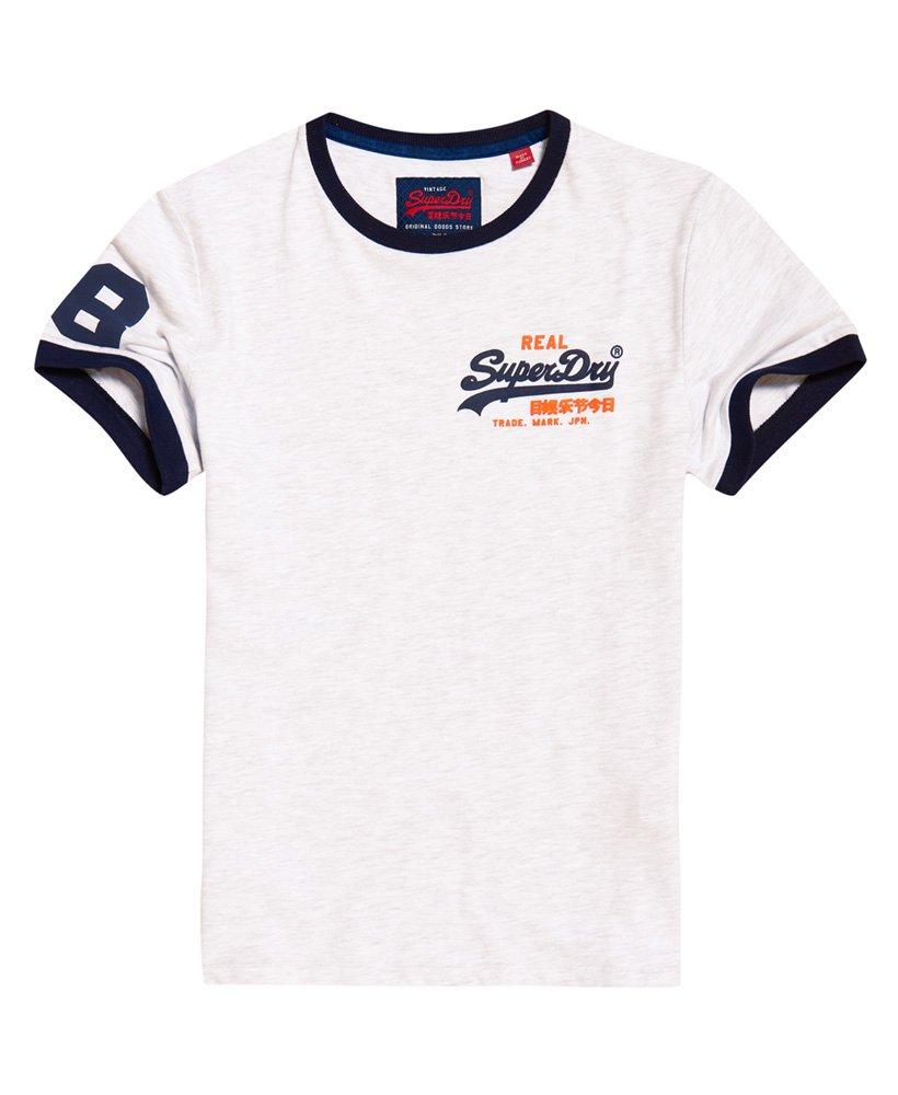 261feb82 Mens - Vintage Logo Ringer T-Shirt in Ice Marl   Superdry