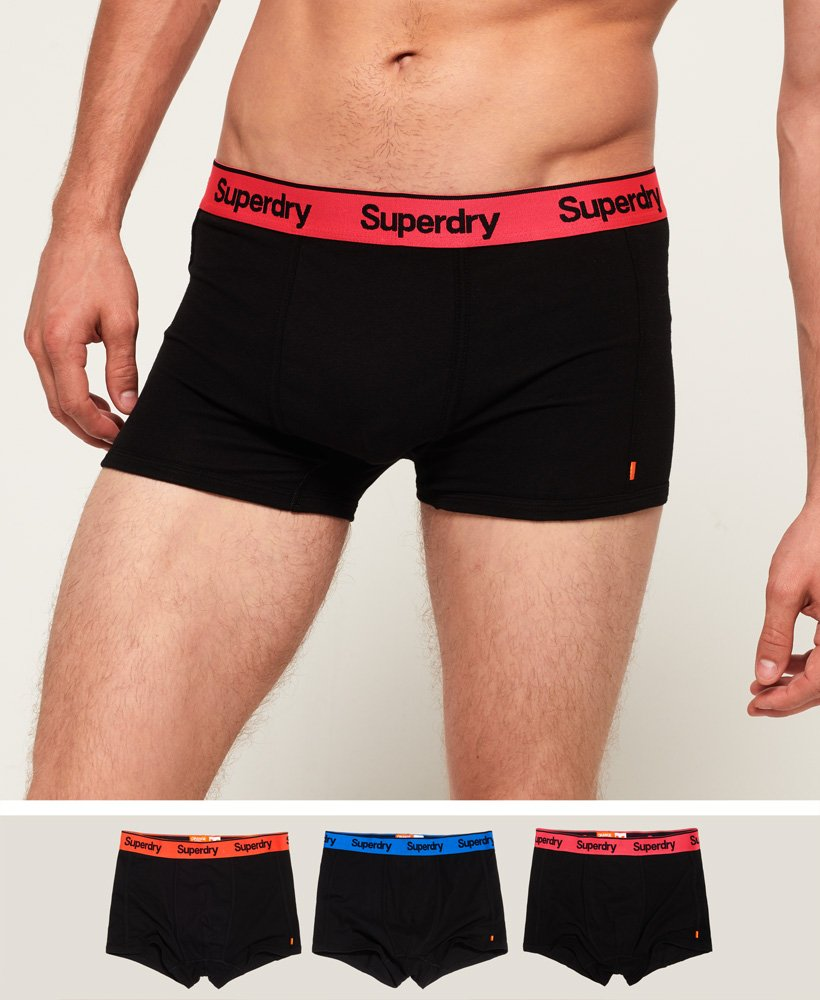 Superdry Orange Label Sport Badehosen im Dreierpack thumbnail 1