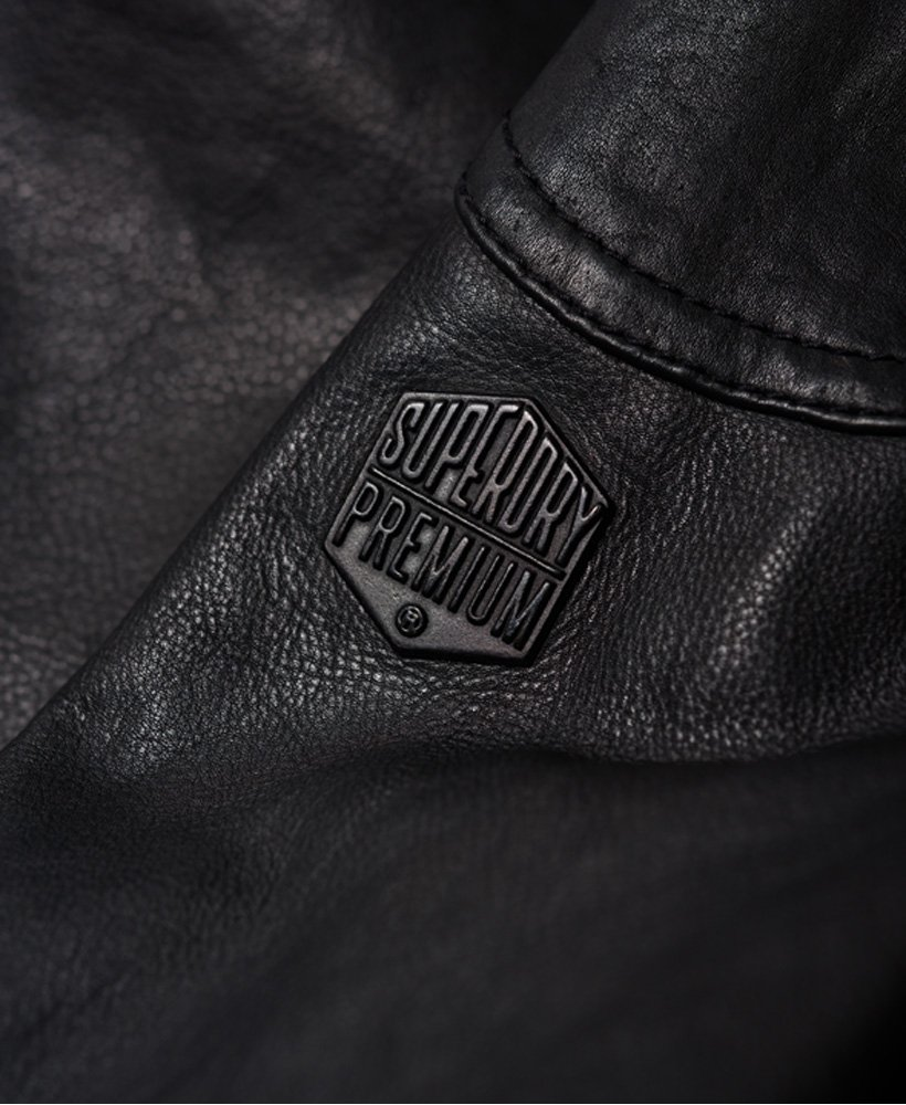 36cf6f32f3a Superdry Rotor Leather 4 Pocket Jacket thumbnail 9