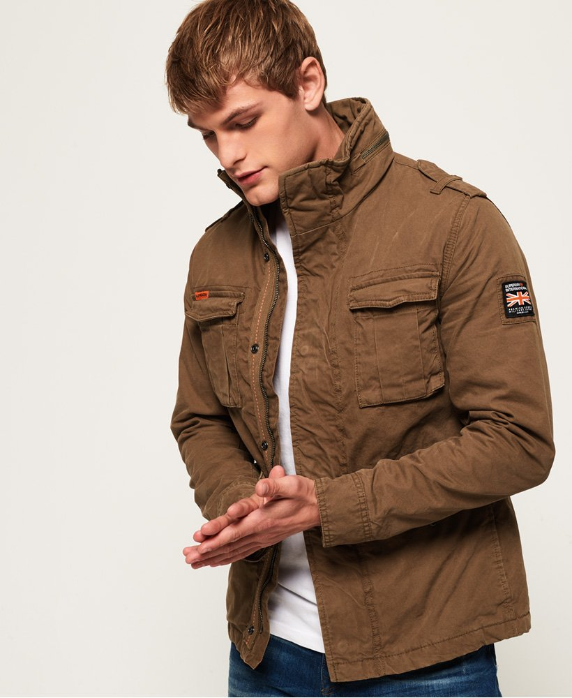 Mens - Classic Rookie Military Jacket In Rusty Gold