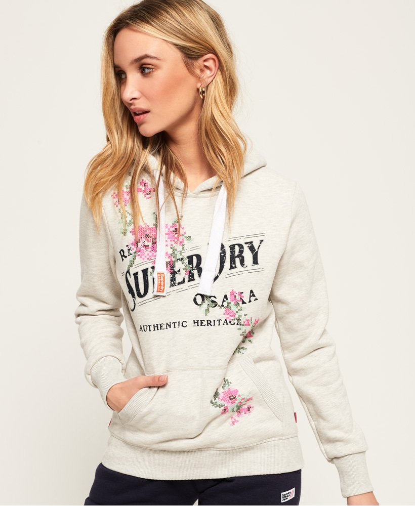 Superdry Arizona Hoodie mit geflockter Stickerei
