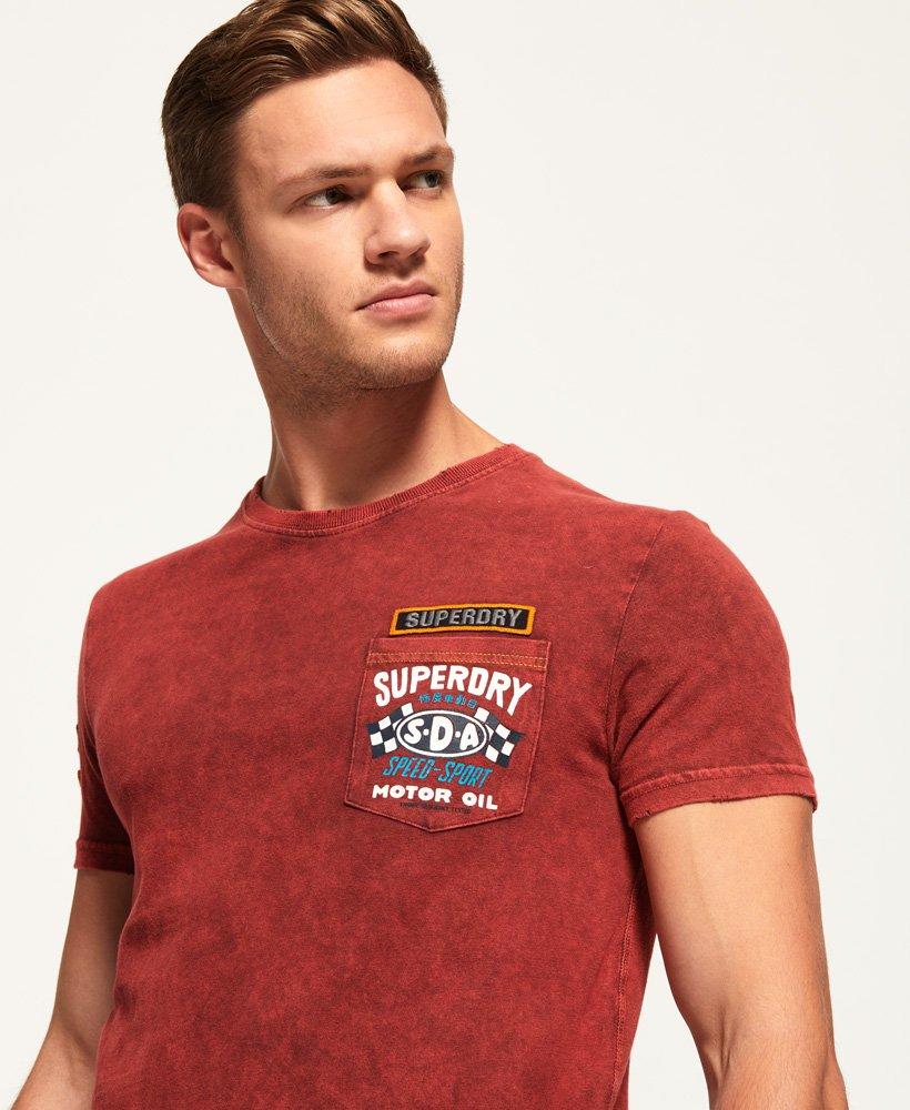 Superdry Herren Custom Jeans-T-Shirt Mit Tasche Und Ziernaht