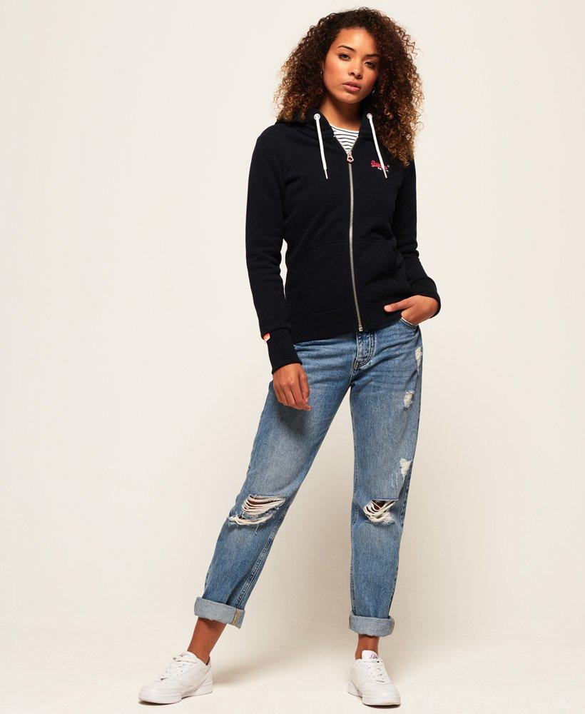 Superdry Womens Orange Label Elite Zip Hoodie Hooded Sweatshirt