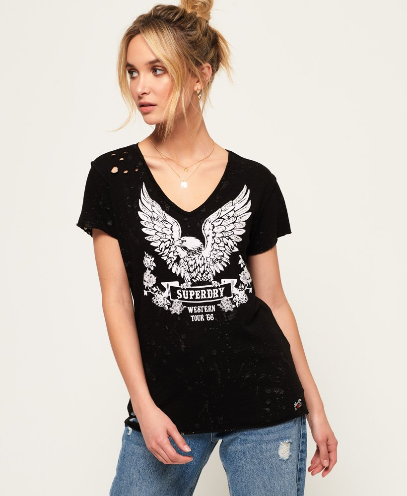 Superdry T-shirt Taylor Distress