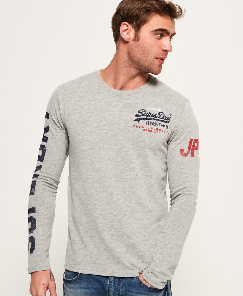 Superdry Premium Goods Long Sleeve T-Shirt thumbnail 1