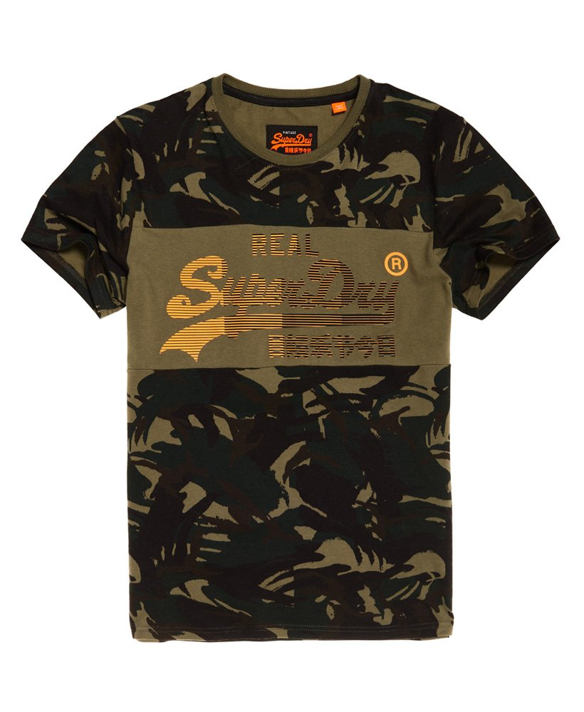 Superdry Vintage Logo 1st Panel Camo T-Shirt thumbnail 1