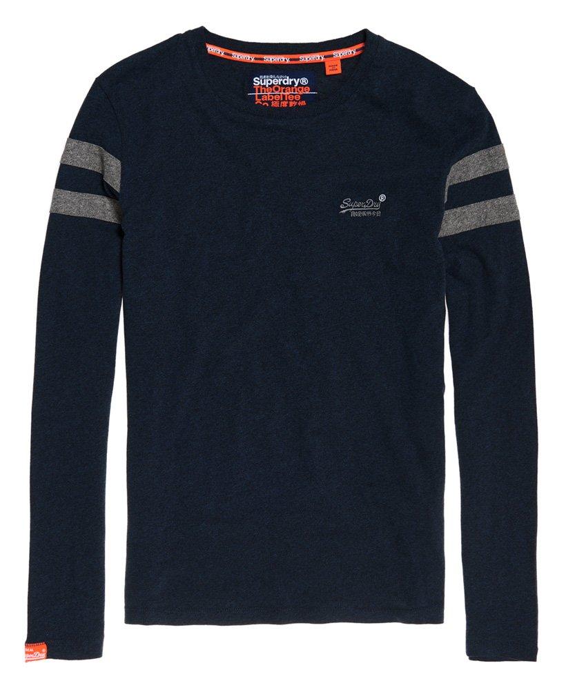 Superdry Herren Orange Label Softball Ringer T-Shirt