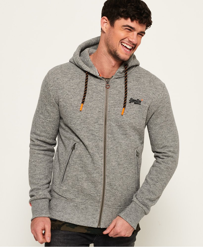 Superdry Sweat à capuche zippé Hyper Pop Orange Label pour Homme 4e89d4f3f5b4