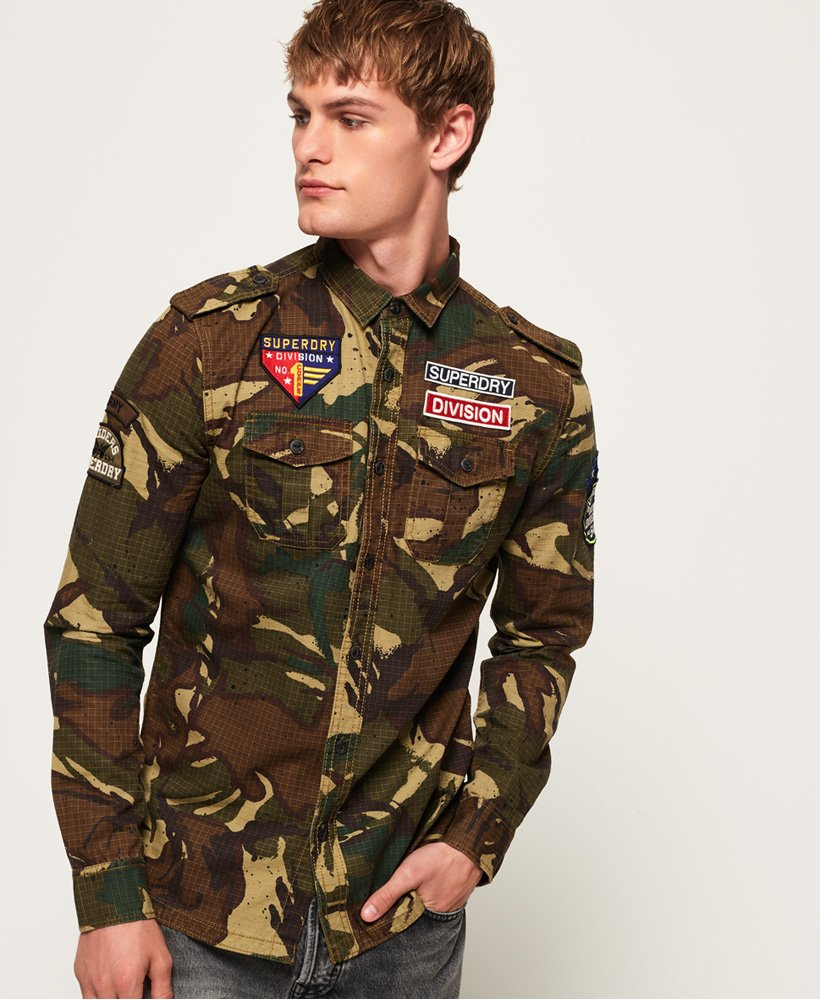 Superdry Army Tropics Long Sleeve Shirt thumbnail 1