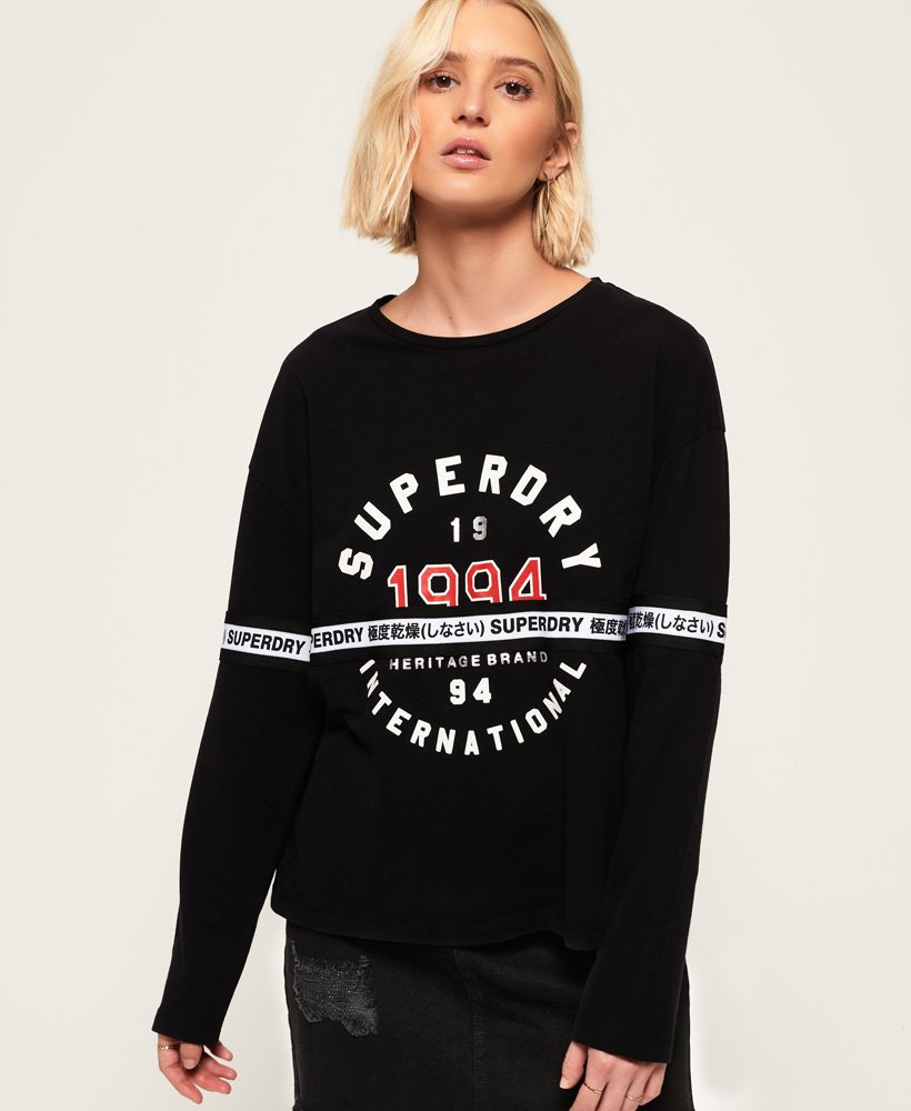 Superdry Tape Graphic Top thumbnail 1