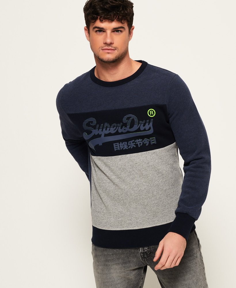 Superdry Vintage Logo Panel Sweatshirt