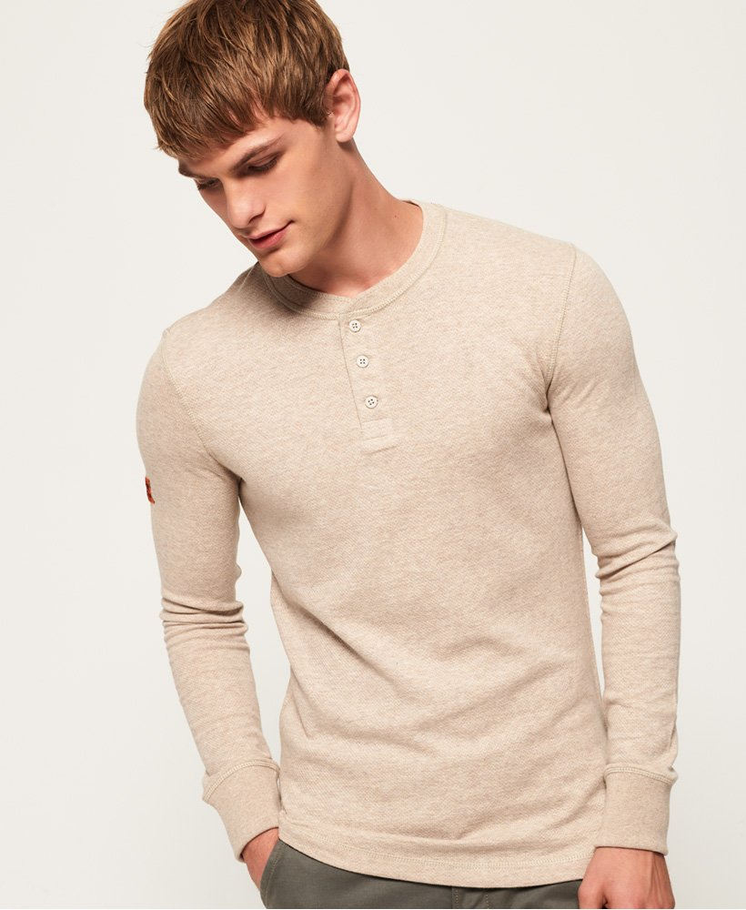 Superdry Prospector Grandad Long Sleeve Top thumbnail 1