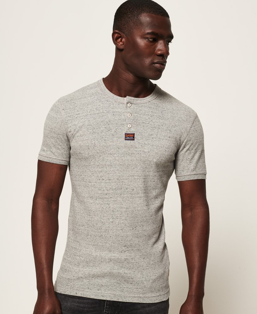 Superdry Heritage Grandad Short Sleeve Top thumbnail 1