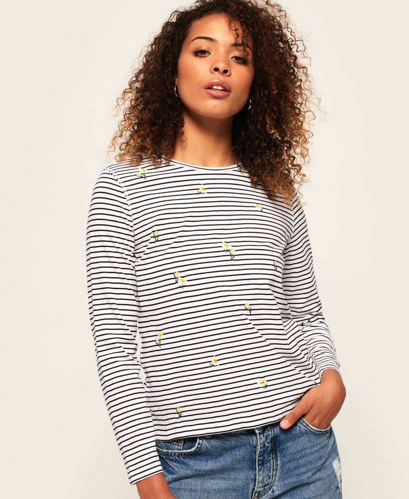 Superdry Fargo Embroidery Top thumbnail 1