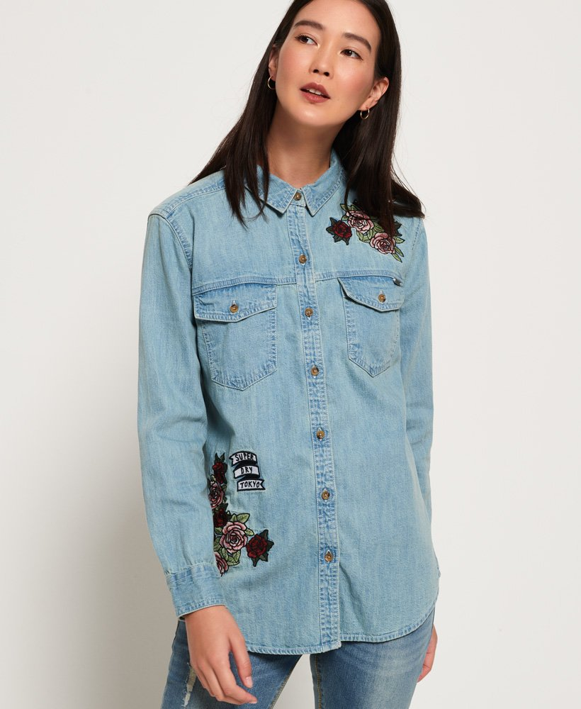 Superdry Oversized Denim Shirt thumbnail 1