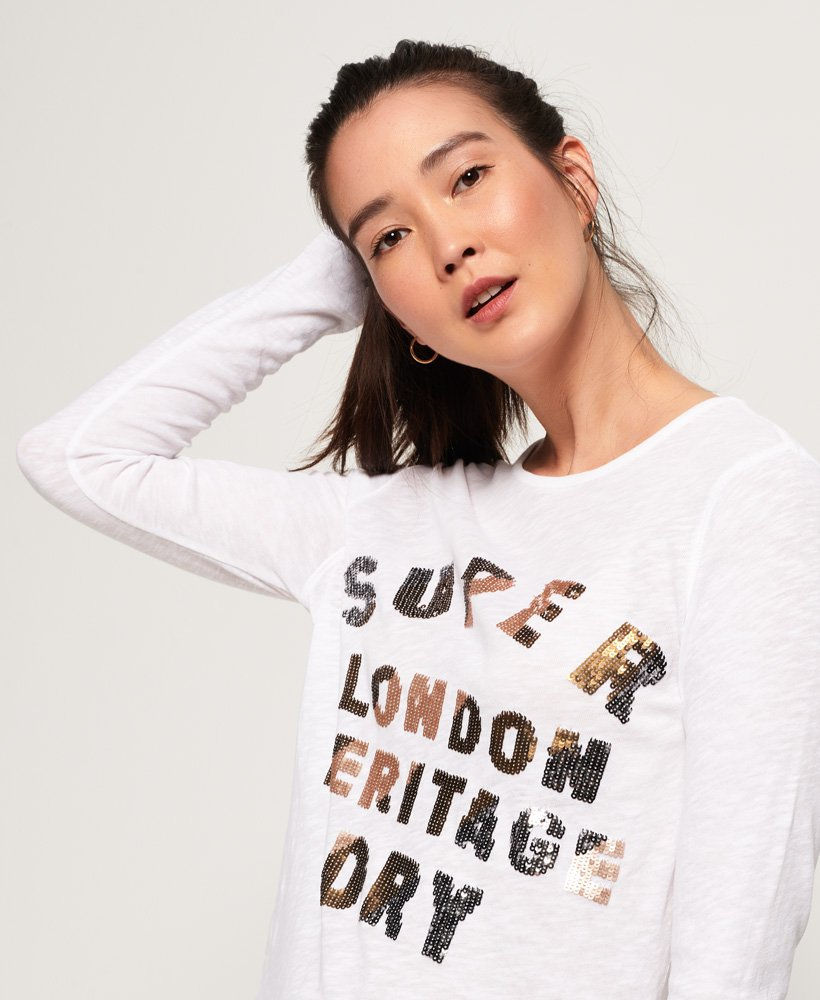 Superdry Aisha Sequin top thumbnail 1