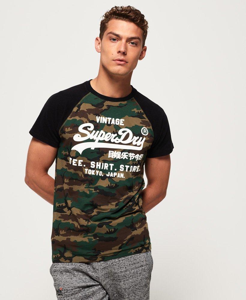 Superdry Shirt Shop Camo Raglan T-Shirt thumbnail 1