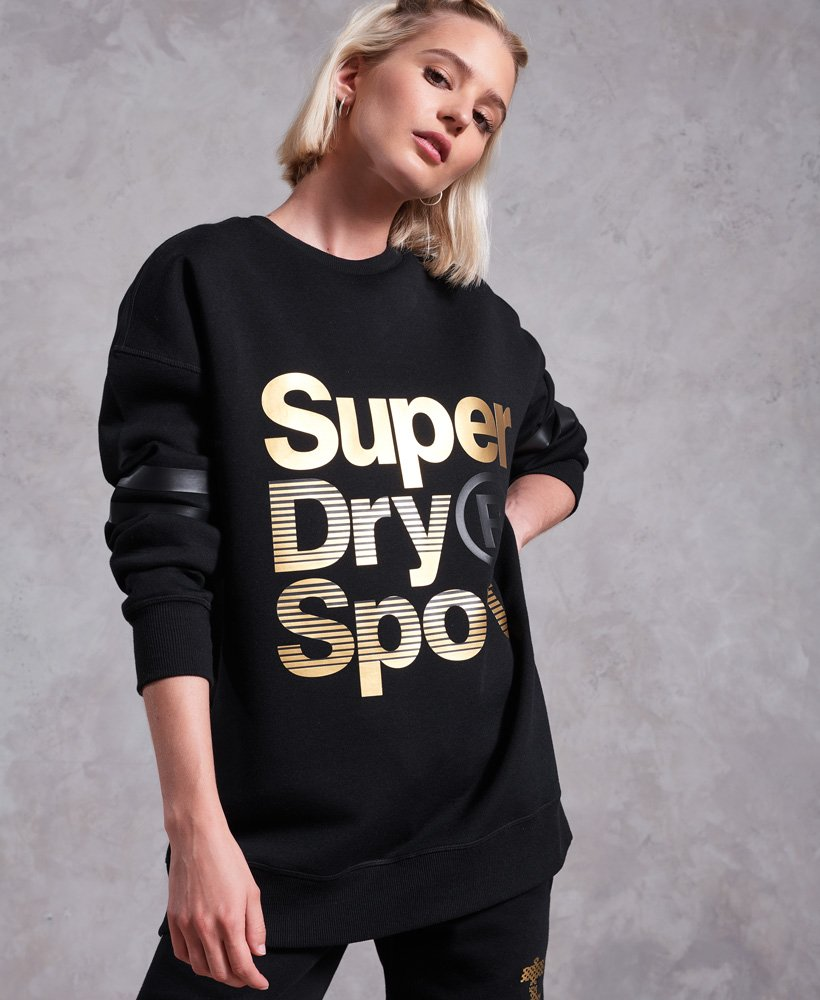 Superdry Gym Tech Gold Supercrew Jumper thumbnail 1