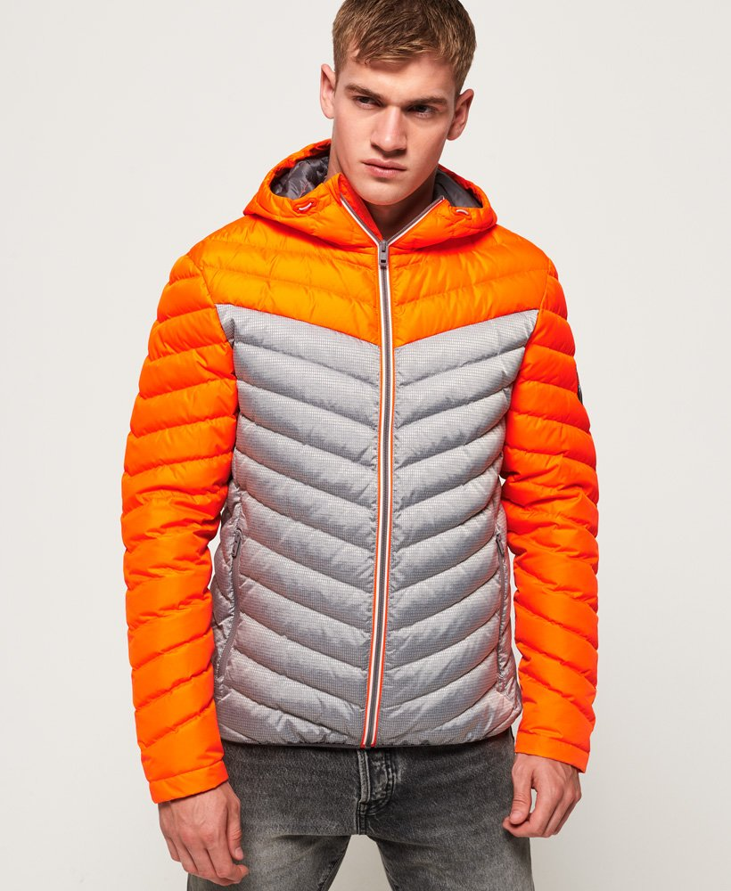 Superdry Chevron Colour Block Down Jacket thumbnail 1