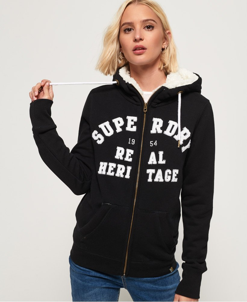 Superdry Aria Applique Zip Hoodie thumbnail 1