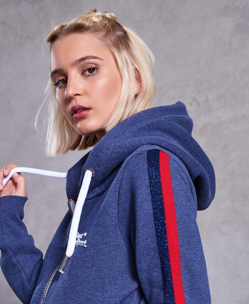 Superdry Gilet à capuche zippé Diamond Label pour Femme