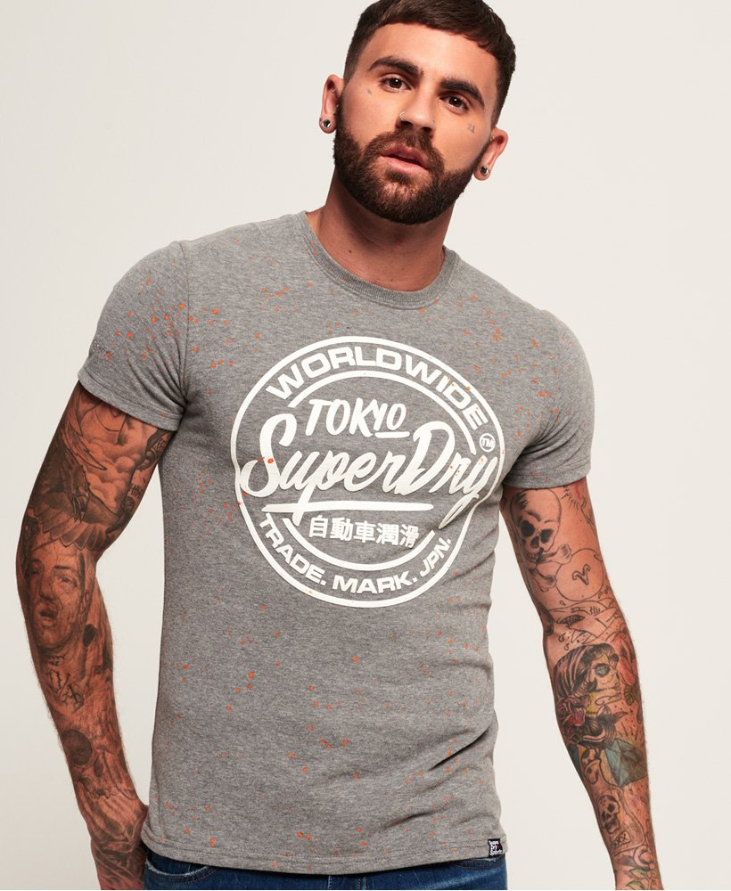 Superdry Worldwide Ticket Type Splatter T-Shirt thumbnail 1
