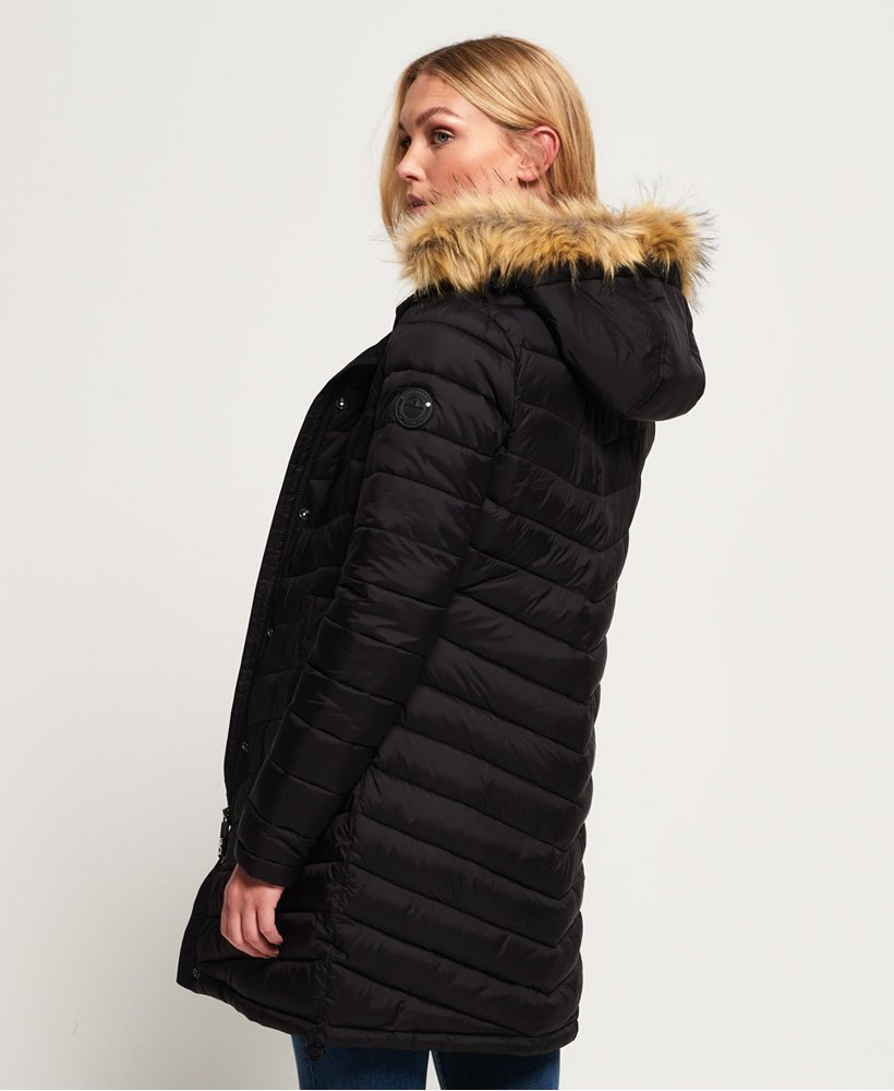 Superdry Chevron Faux Fur Super Fuji Jacket Women's