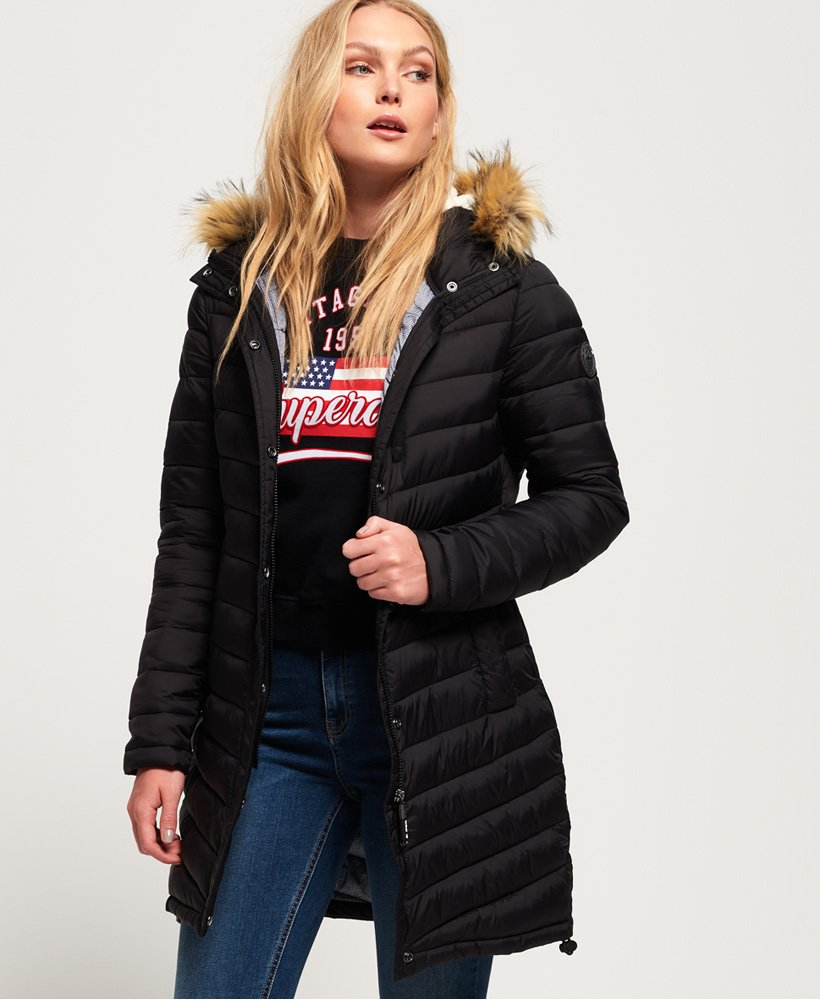 Superdry Chevron Faux Fur Super Fuji Jacket thumbnail 1