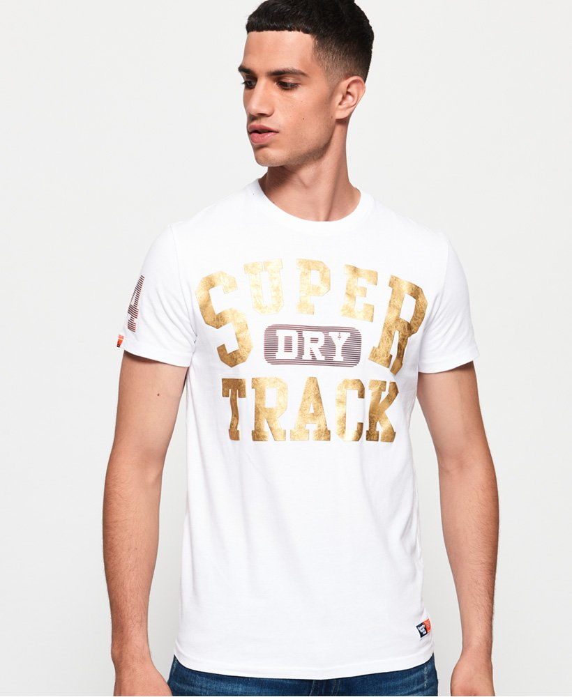 Superdry Track and Field Metallic T-shirt thumbnail 1