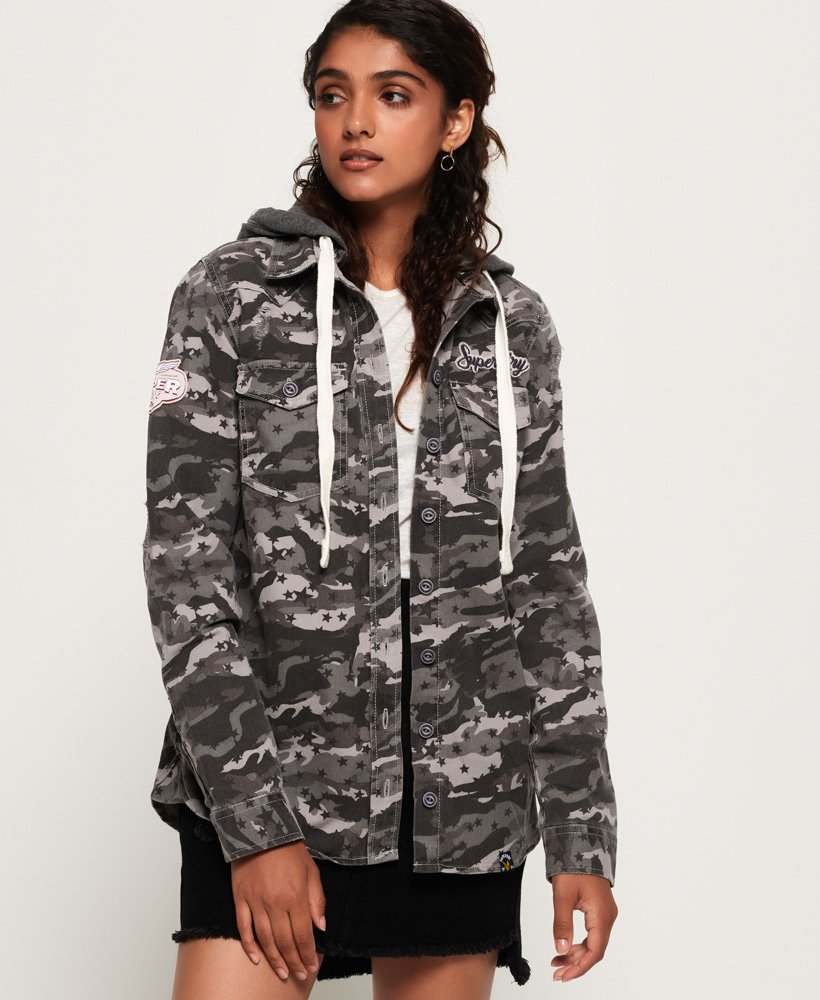 Superdry Maddie Hooded Shirt thumbnail 1