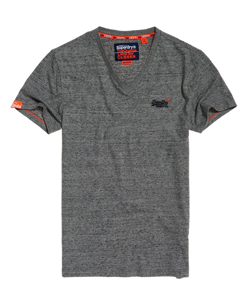 Superdry Orange Label Vintage geborduurd T-shirt met V-hals