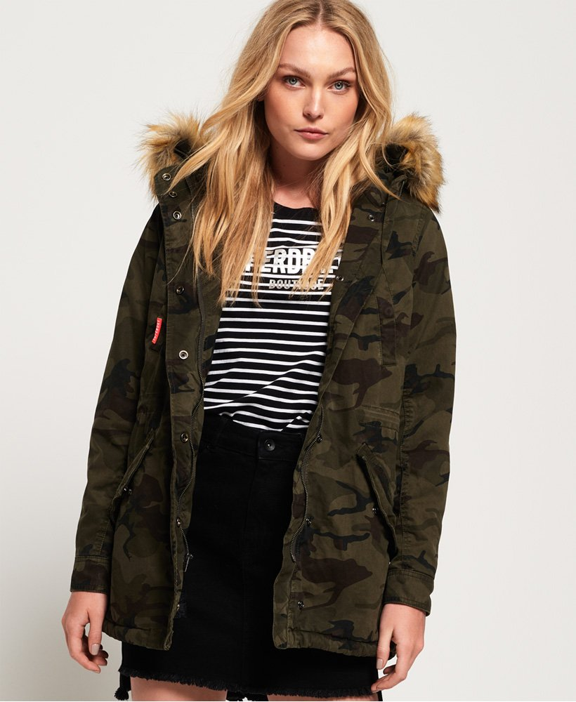 Superdry Classic Rookie Fishtail Parka Coat thumbnail 1