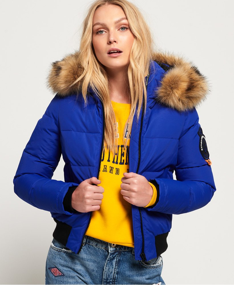 Affordable Superdry Womens Everest Ella Bomber Jacket
