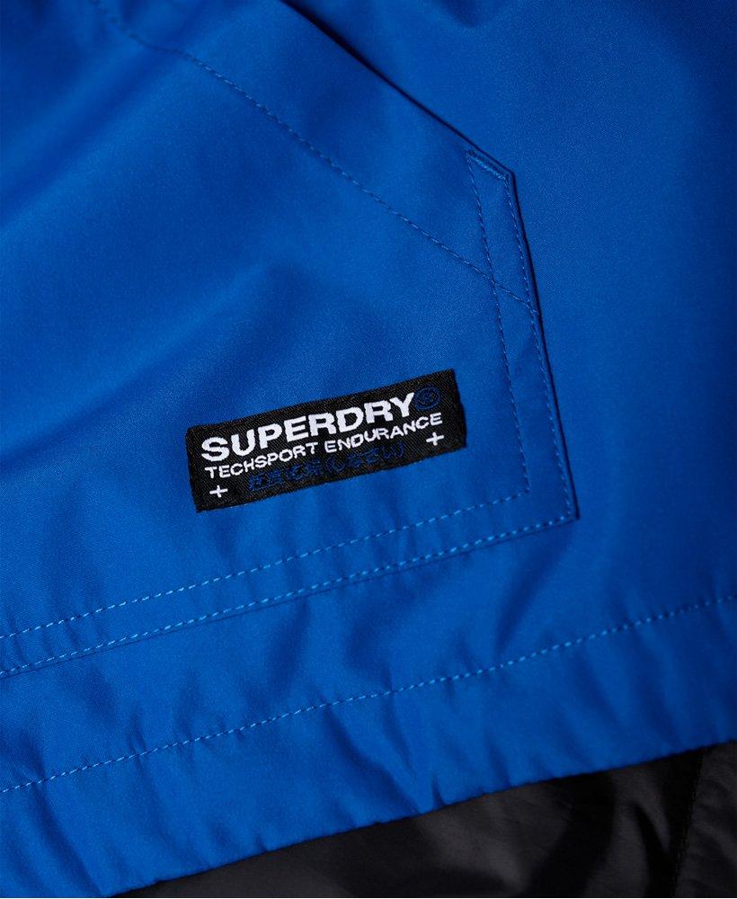 NUOVA linea uomo Superdry Hooded Elite SD-Giacca a Vento Blu Elettrico