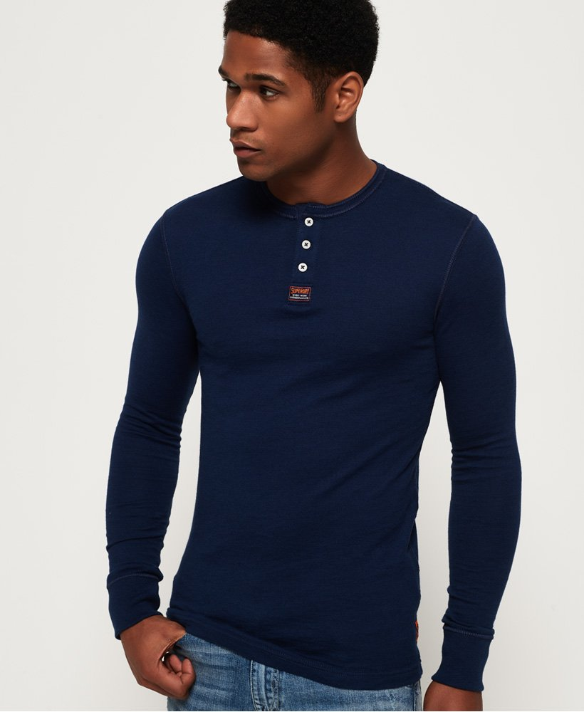 Superdry Heritage Grandad Long Sleeve Top thumbnail 1
