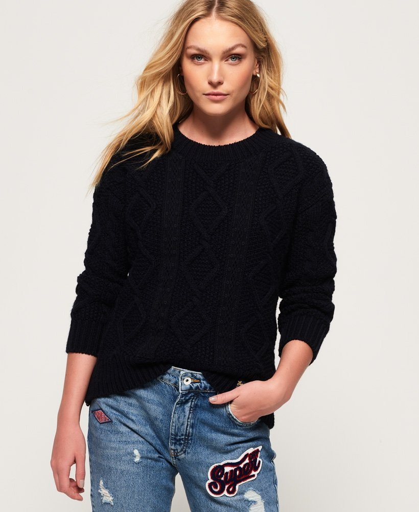 Superdry Clara Lace Knit Jumper thumbnail 1