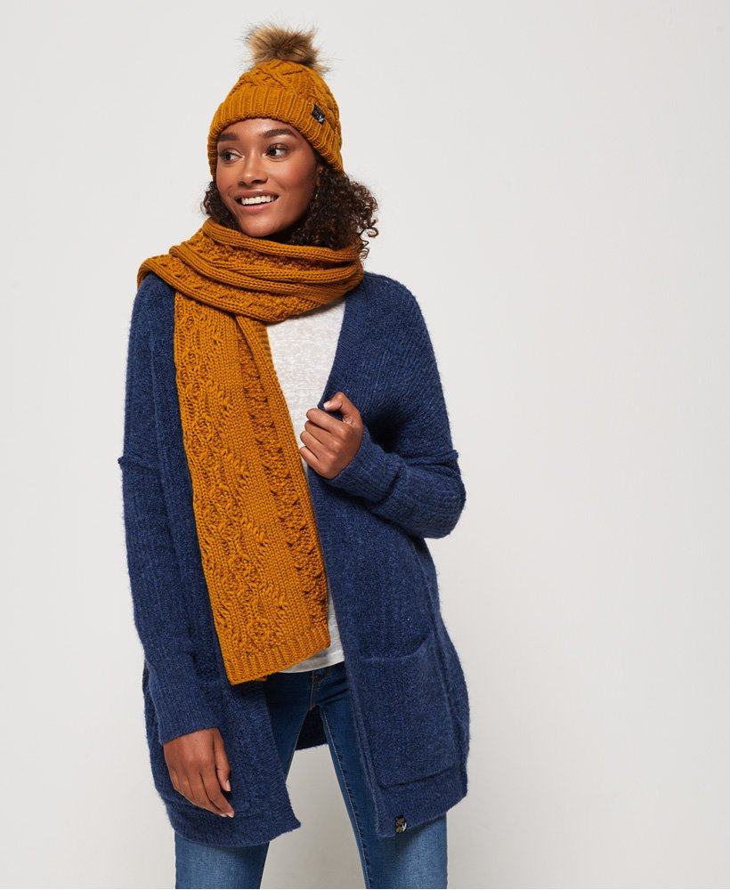 Superdry Arizona Cable Scarf thumbnail 1