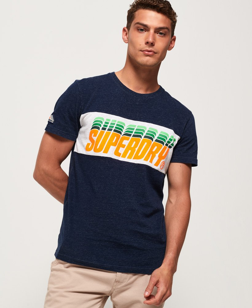 Superdry T-shirt à empiècement Triple Drop Pop thumbnail 1