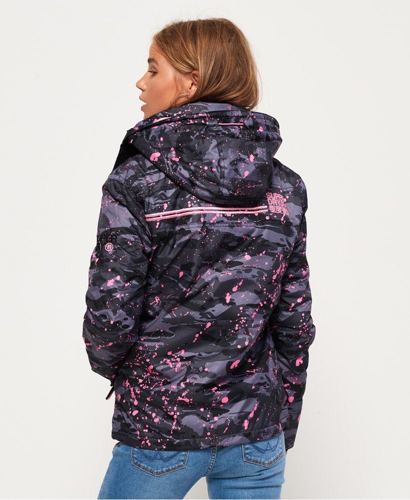Superdry Arctic Hooded Print Pop Zip SD Windcheater jakke