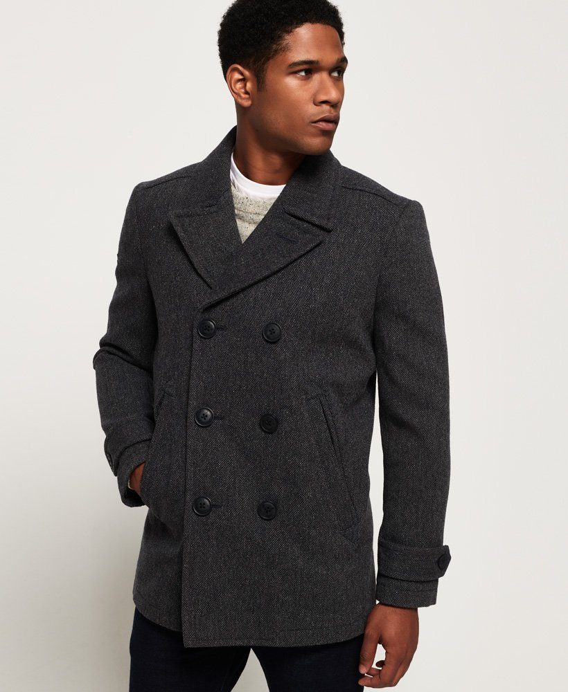 Superdry New Merchant Pea Coat thumbnail 1
