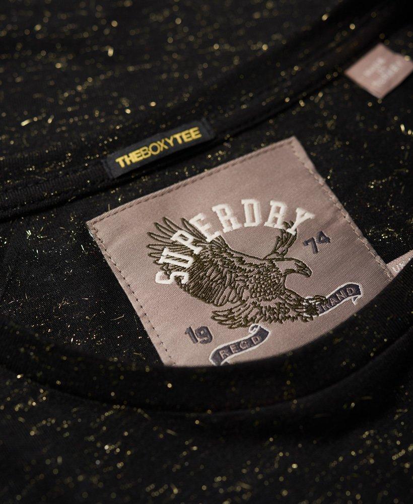 Superdry Keep It Rhinestone Boxy T skjorte Dame T skjorter