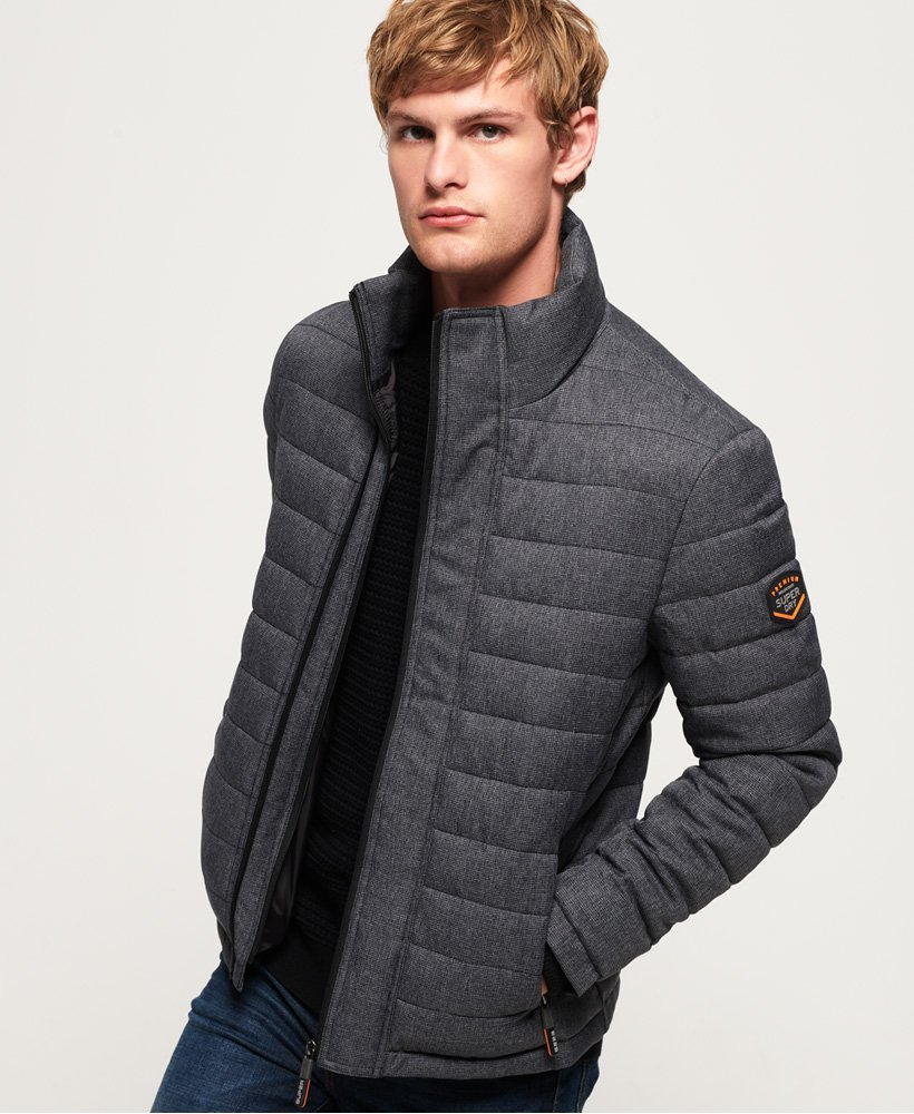 Superdry Tweed Double Zip Fuji Jacket