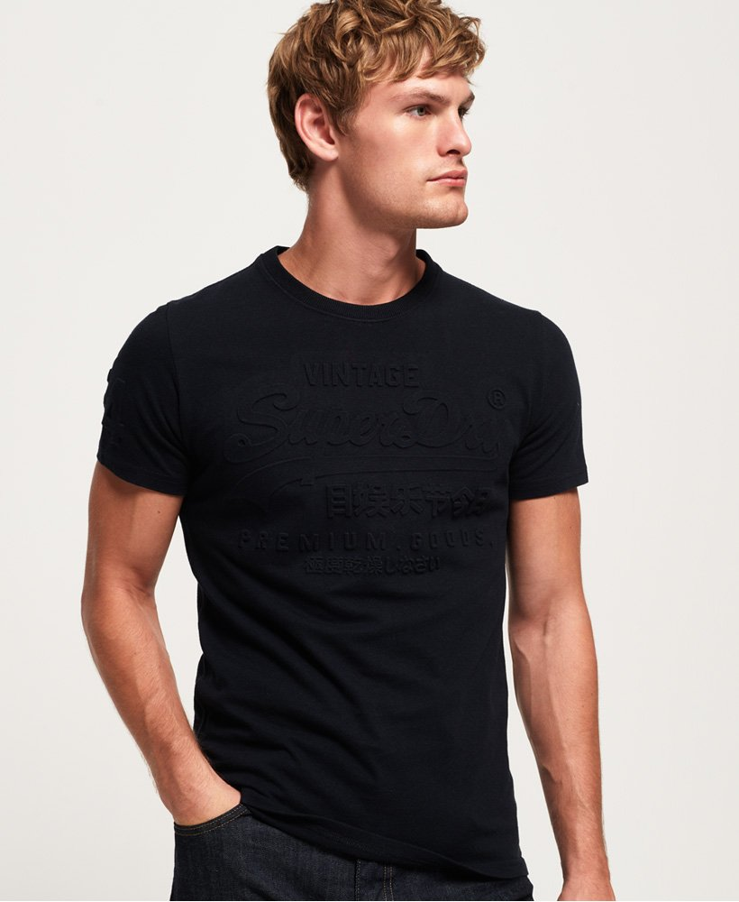 Superdry Premium Goods Embossed T-Shirt thumbnail 1
