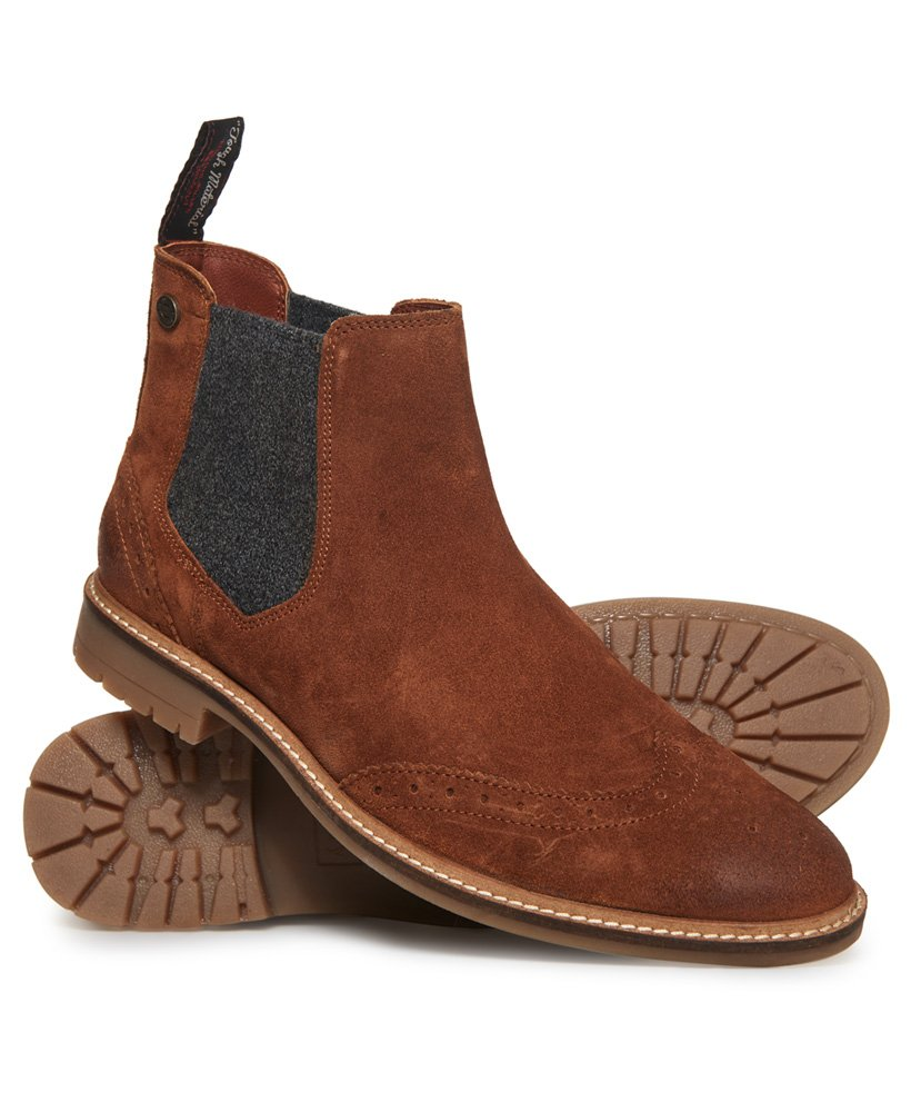 3cbbe00233b Mens - Brad Brogue Chelsea Boot in Tabacco | Superdry