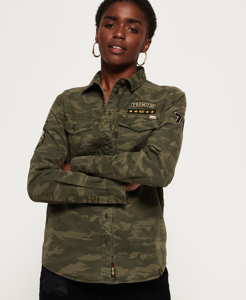 Superdry Reina Twill Military Shirt thumbnail 1