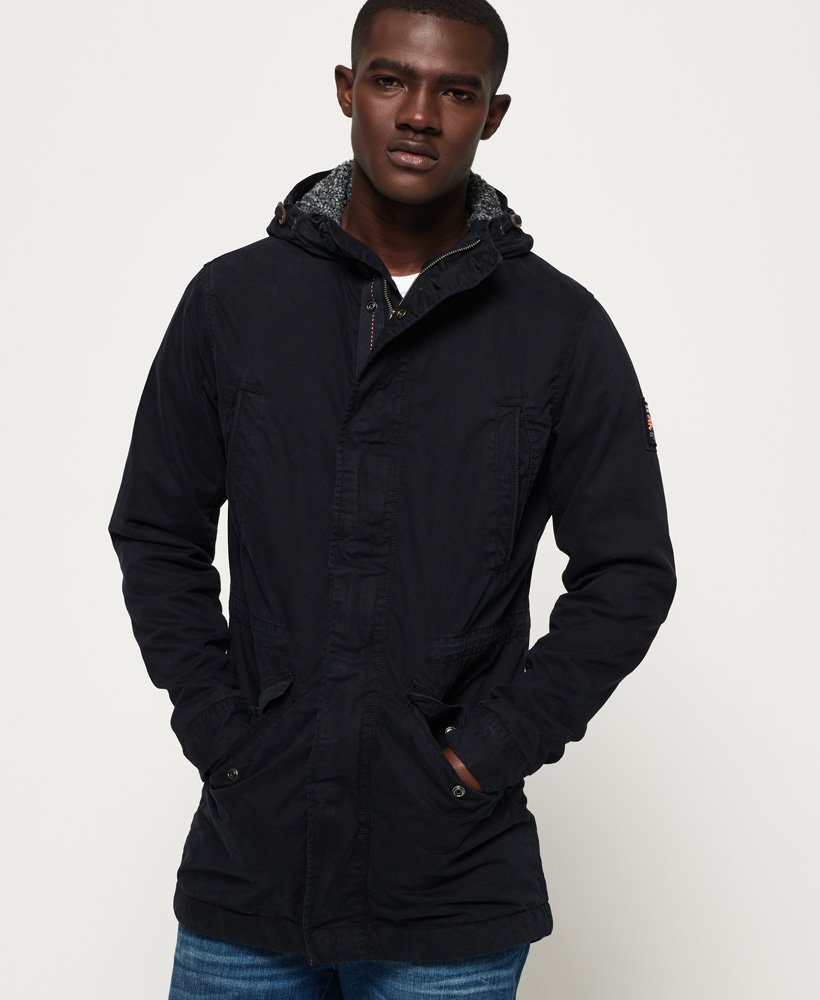 Mens Parka Jacket in Super Dark Navy | Superdry