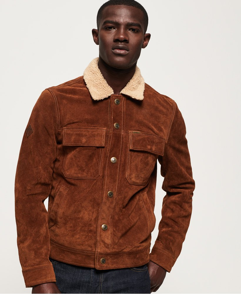 Superdry Merchant Store Suede Trucker Jacket thumbnail 1