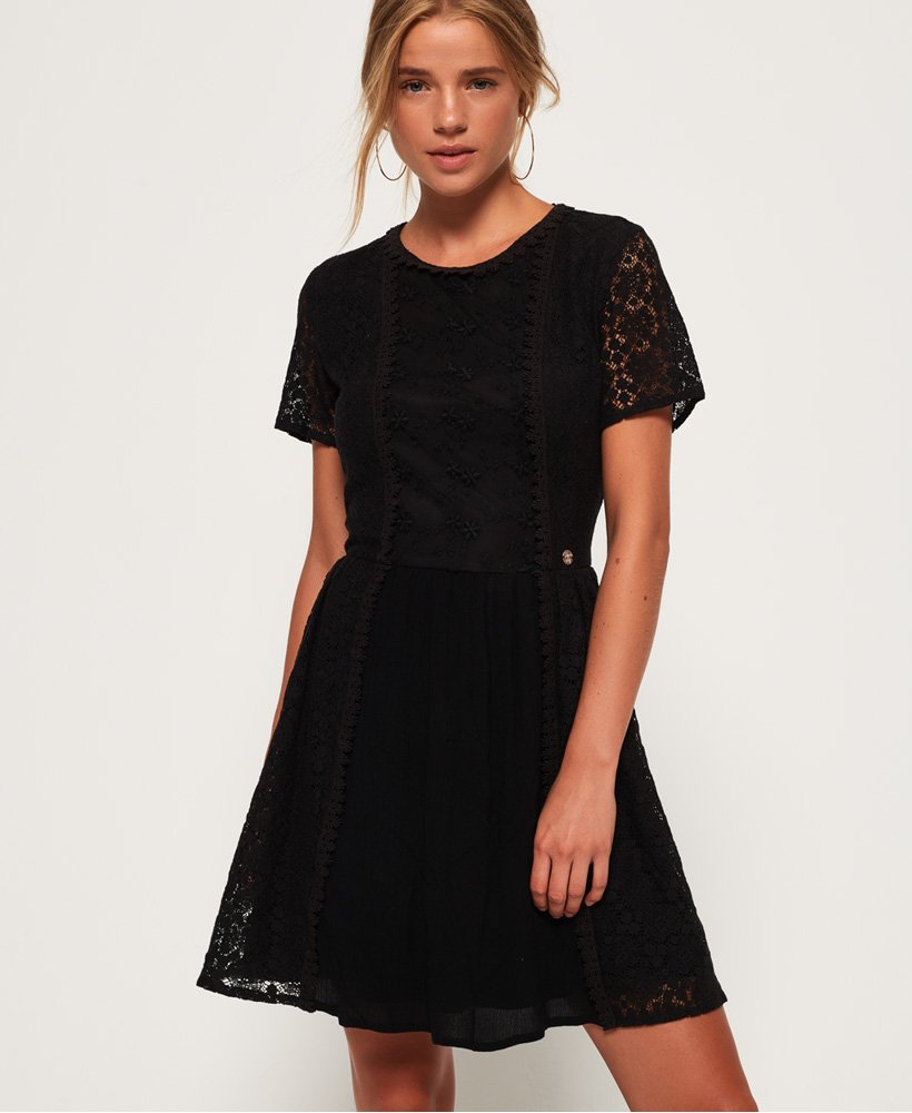 Superdry Ella Lace Panelling Dress thumbnail 1