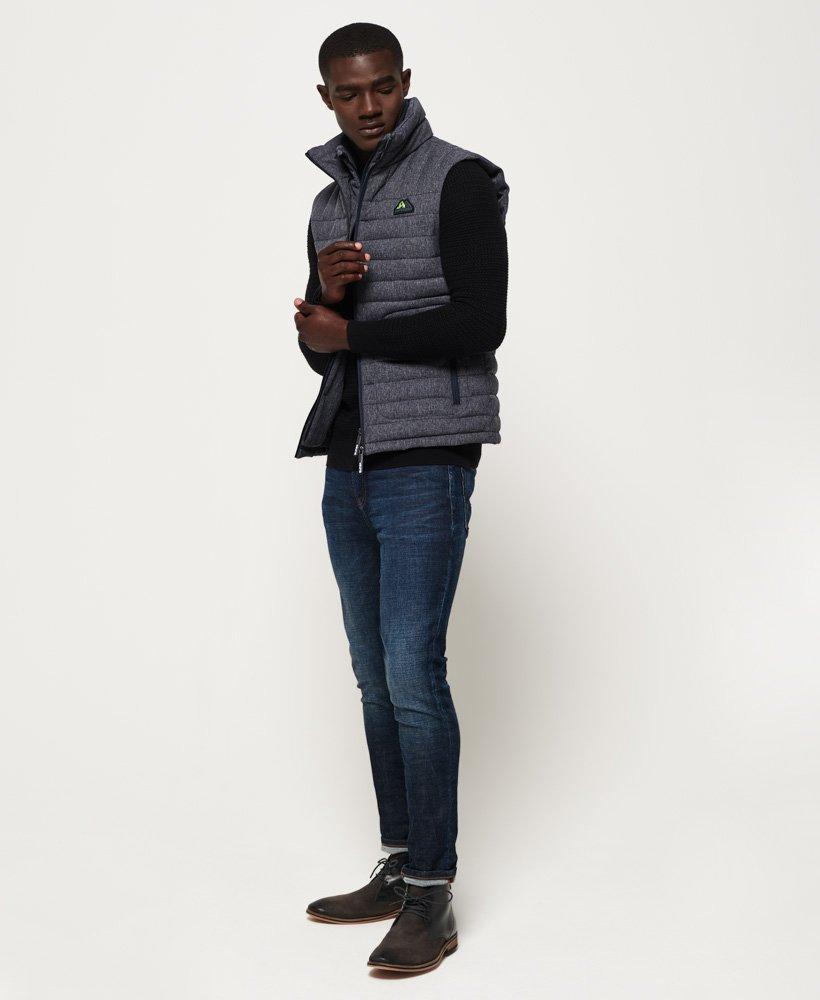 Doudoune en tweed zippée Fuji Superdry Tweed Bleu Marine