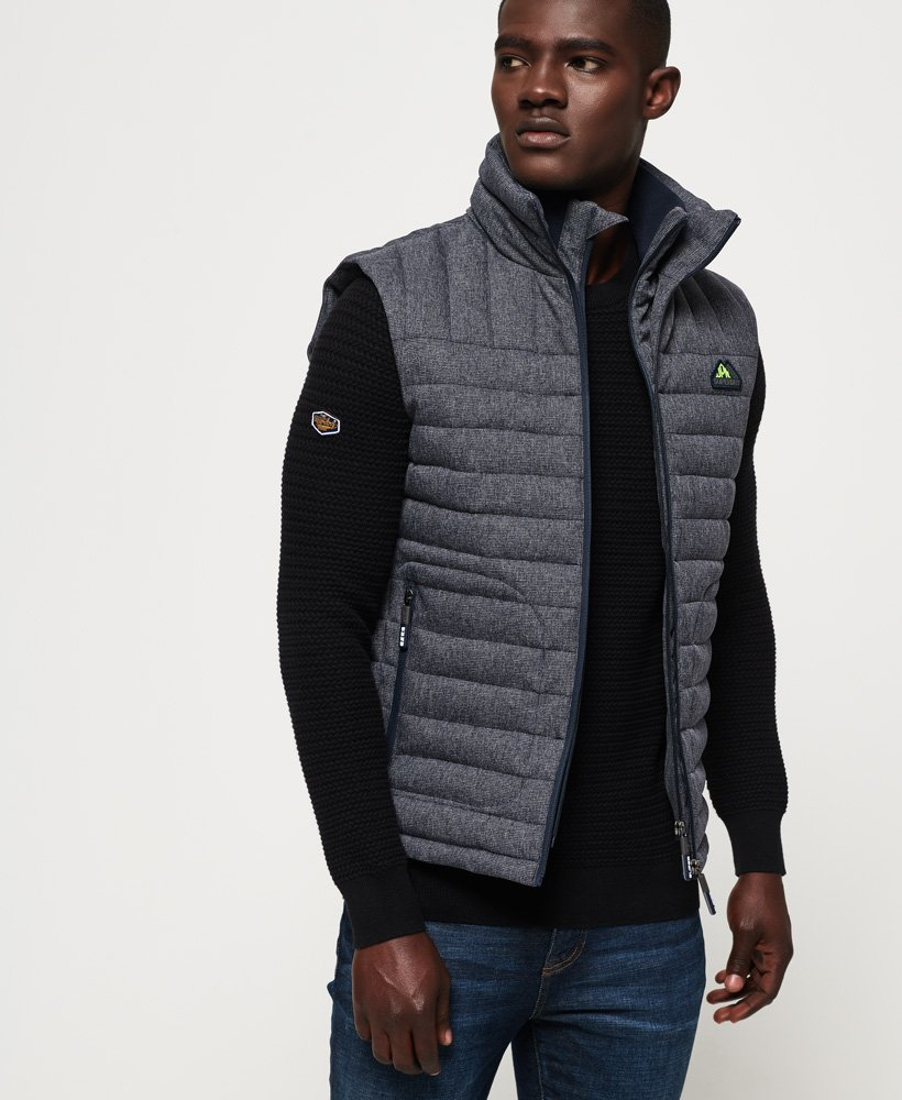 Superdry Double Zip Tweed Fuji Gilet thumbnail 1